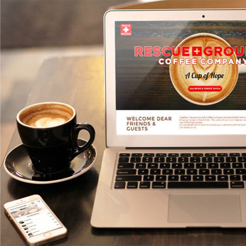 Rescue Grounds Coffee Shop Website Design